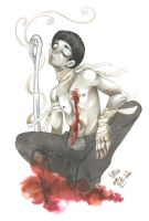 Rock Lee - Wounded by bobkitty