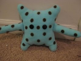 Polka-dot Monster Plushie by Voldenae