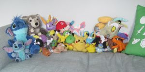 Plushie Collection December 2014 by anime-wolf-fan-girl