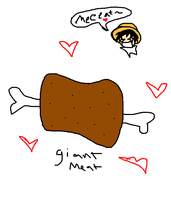 i love meat by IAmMonkeyDLuffy