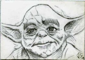 Sketch Card: Yoda by JasonShoemaker