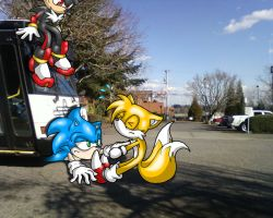 Request:  Sonic and the Bus by KaiThePhaux