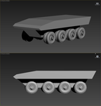 Armored personnel carrier (WIP) by Yaskolkov