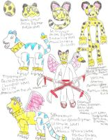 Cheetahmon and Her Evolutions by PsychoDemonFox