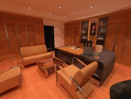 Managers Office Design 05 by PsychoSpaceMonkey