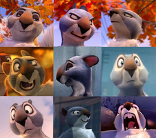 The Nut Job - Grayson faces by the-acorn-bunch