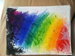 Melted Crayon Experiment by ArtArtzy