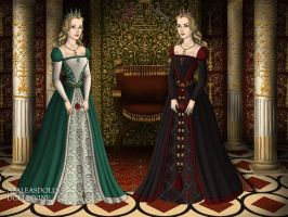 The Princesses Odette and Odile by EveWitch