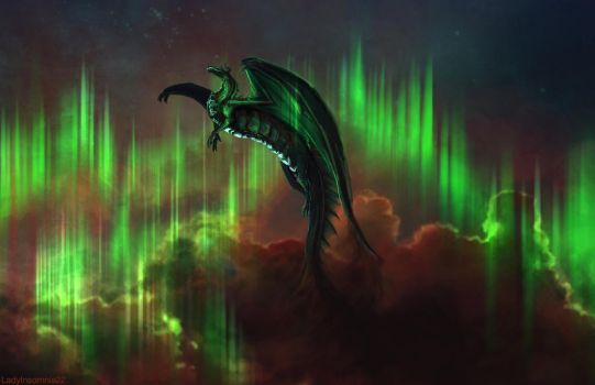 Dragon of the Northern Lights by LadyInsomnia22