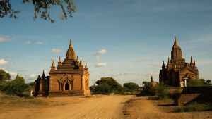 Bagan Temple Ruins Stock by little-spacey