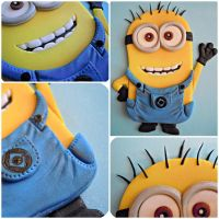 Fondant Minion by cake4thought