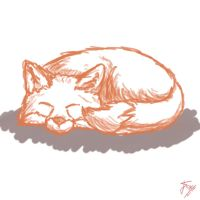 Daily Doodle #8. Fox by OnlyOneFoxy