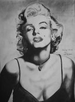 Marilyn Monroe in charcoal. by astrogoth13