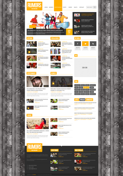 Rumors - News / Magazine PSD Template by donkeythemes