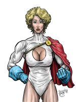 Powergirl WIP-COLOR by secretmantra