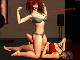 Fitness gym with Candy Cane and Reiko Hinomoto end by DreamCandice
