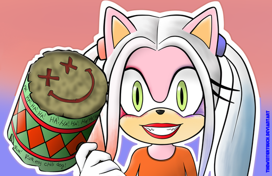 Your face when your puddin' is a chili dog by TheWinterTouch