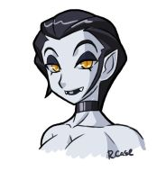 Vampire lady bust doodle by rongs1234
