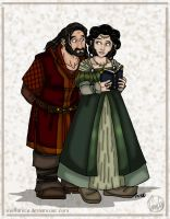 The Hobbit Doodle: Frerin and Dis by wolfanita