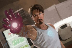 Iron Man Movie Still Practice by pinkhavok