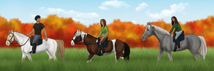 A visitor and a lil' training by CollidingStarsStable