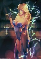 Commission: Electra from Streets of Rage by jaimito