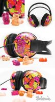 gummy Bear Headphones II by Bobsmade