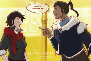 Day 3: Genderbender by justixoxo