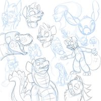 Have a pile-O-sketches by secoh2000