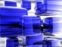 Blue Cubes by VickyM72