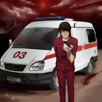 : hell ambulance : by Lala-Mot