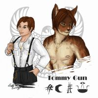 Tommy Gun - Doodle by PookaWitch
