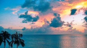 Sunset Over Grand Cayman by KaleaArgent