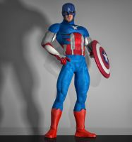 Cap America suit 2nd skin textures for M4 by hiram67