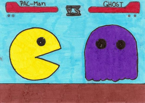 Pac Man VS Ghost by zac-of-blades