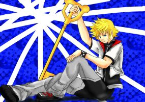 Roxas- Art Trade with Darkelementangel by Silverarte