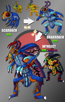 Fakemon - Scaroach Line by UltimateRidley