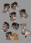 Frodo Lion Sketches by WindWo1f