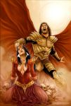 Blood Queen vs Dracula 01 Cover Colors by FabianoNeves