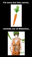 Midorima the Carrot?? by sukijanai19