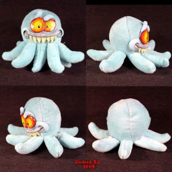 Ick the octopus Plush Ooak by Undead-Art