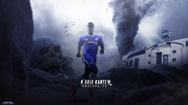 Ngolo kante wallpaper 2016/17 by Abbes17