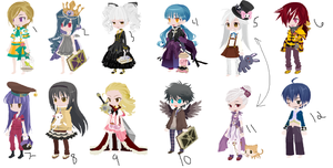 Free~! (1/12 OPEN) by AvalaAdopts