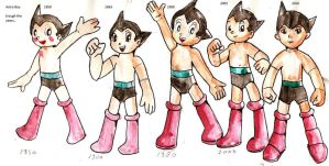 AstroBoy -trough the years- by Kell0x