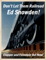 Don't Let Them Railroad Ed Snowden! by poasterchild