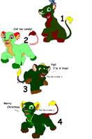 FREE Christmas lion Adopts closed! by FrankinPoodle