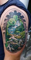 waterfall by tattooneos
