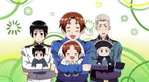 Hetalia: Axis and Chibis by Snowfeather217