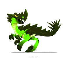 Green Outland Raptor by Versiris