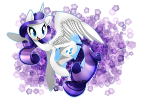 Alicorn Rarity by PegaSisters82